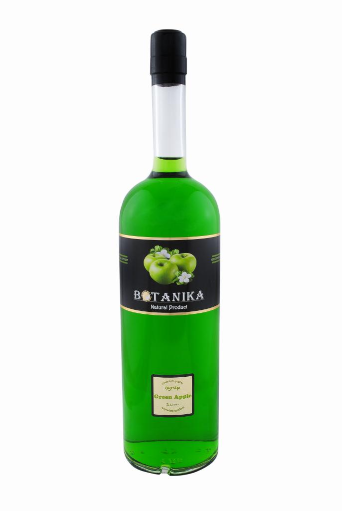 Сироп Зеленое яблоко 700 мл BOTANIKA