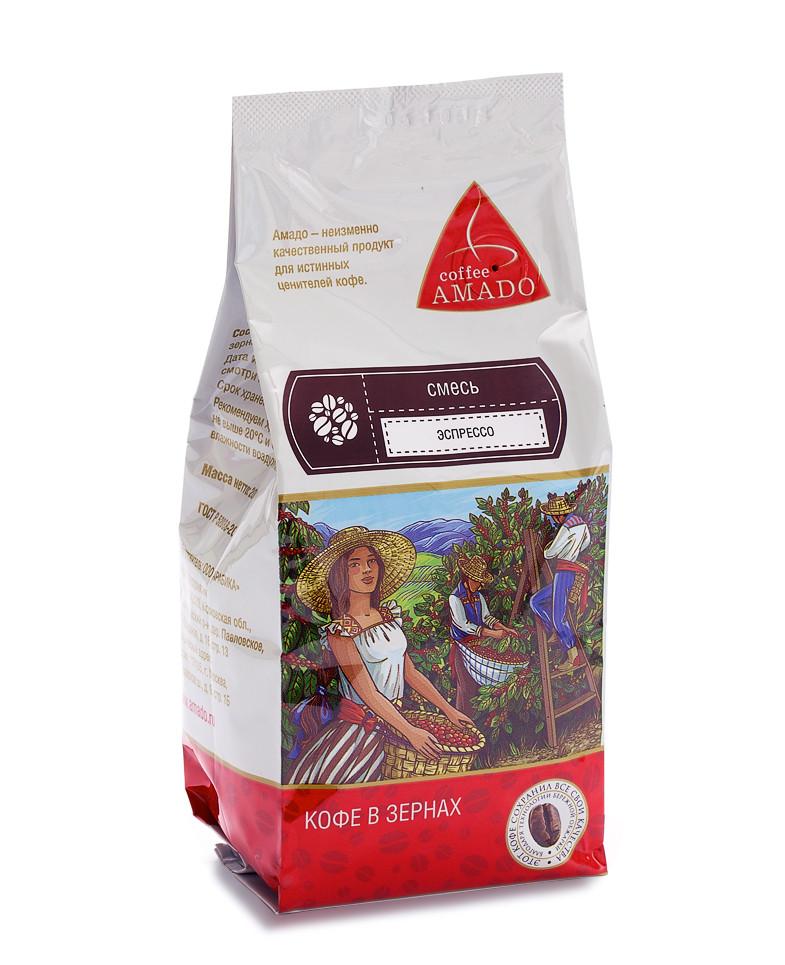 """Кофе в зернах """"Эспрессо"""" Арабика 80%, 200гр"""