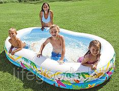 "Надувной бассейн ""Райская Лагуна"" 262х160х46 см, Intex 56490"