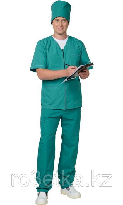 """Костюм универсальный на """"молнии"""": куртка, брюки зелёный"""