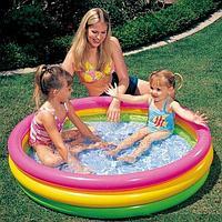 """Детский надувной бассейн """"Радуга"""" 114х25 см, Intex 57412"""