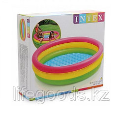"""Детский надувной бассейн """"Радуга"""" 114х25 см, Intex 57412, фото 3"""