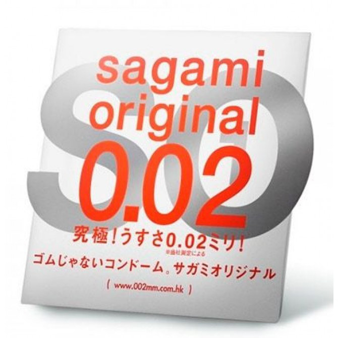 Ультратонкий презерватив - SAGAMI Original 0.02 (полиуретановый) - 1 шт.