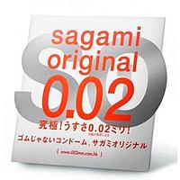 Ультратонкий презерватив - SAGAMI Original 0.02 (полиуретановый) - 1 шт., фото 1