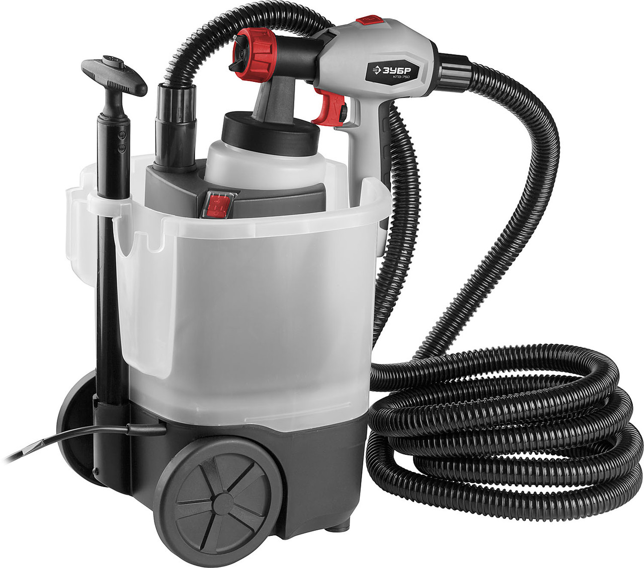 (КПЭ-750) Краскопульт (краскораспылитель) электрич, ЗУБР КПЭ-750, HVLP, 0.8л, краскоперенос 0-800мл/мин