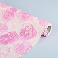 "Бумага упаковочная крафт ""Розы любви"", белый-розовый, 0.5 х 1 м, фото 1"