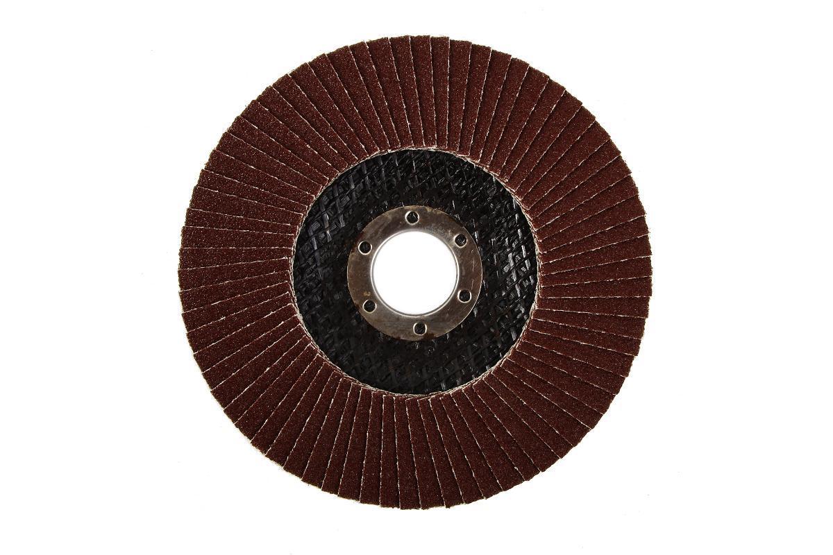 (740837) Круг лепестковый торцевой КЛТ-2, зернистость Р 40, 125 х 22,2 мм, (БАЗ)//Россия