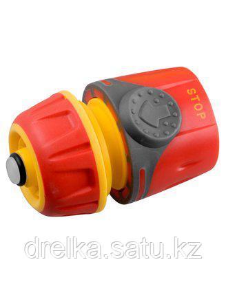 Соединитель GRINDA Premium с автостопом и запирающим механизмом, пластмассовый с TPR, 1/2, 8-426431 , фото 2
