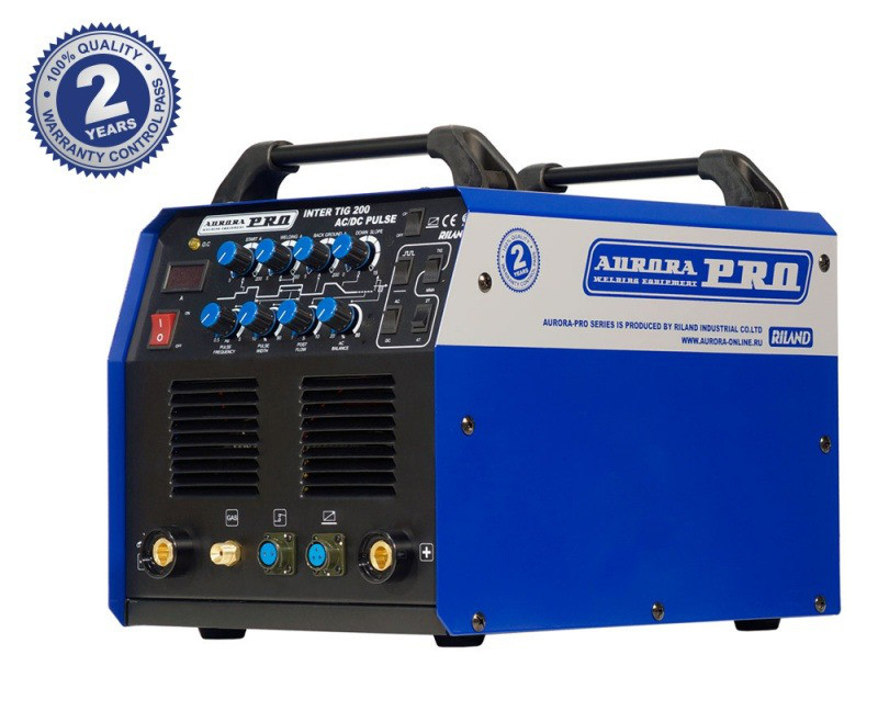 Аппарат аргонодуговой сварки Aurora INTER TIG 200 AC/DC PULSE (TIG+MMA)