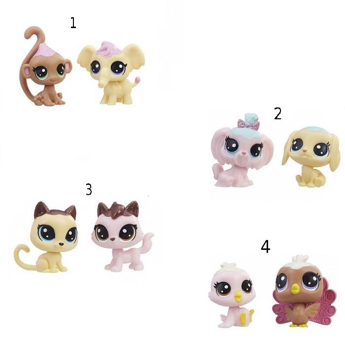 """Hasbro Littlest Pet Shop Игровой набор из 2 фигурок """"Зефирные петы"""", Литл Пет Шоп"""