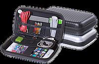Сумка несессер для цифровых и мобильных аксессуаров .