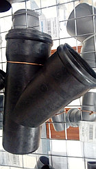 Тройник канализ. ПВХ 110*110*135