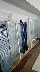 Душевая стенка передняя (стекло черное) В-162 / Ш-20,5