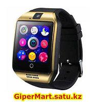 Умные смарт часы Smart watch Q18 (золотистый)