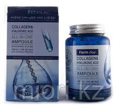 Многофункциональная сыворотка Farmstay FarmStay Collagen & Hyaluronic Acid All-in-One Ampoule,250мл