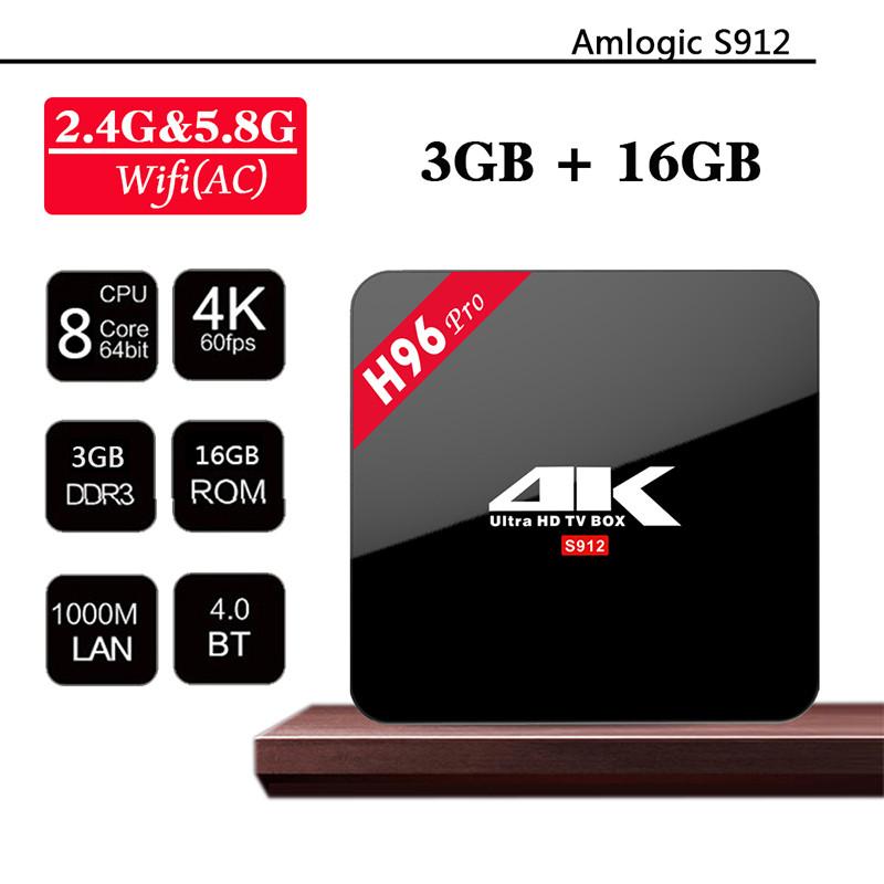 Android Smart TV AmiBox H96 Pro Plus 3GB+16GB
