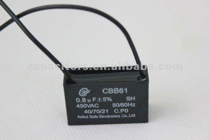 Конденсатор пусковой CBB61 0.8мкф