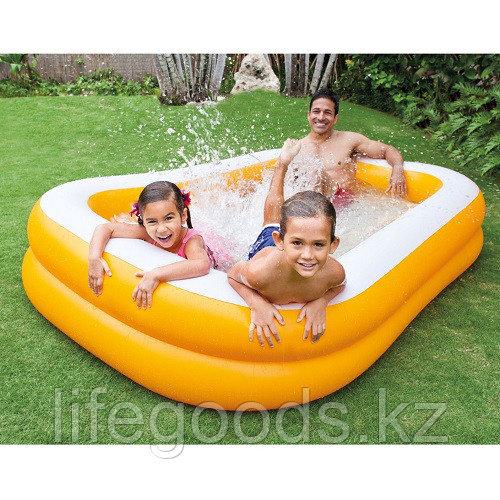 """Детский надувной бассейн """"Мандарин"""" 229х147х46 см, Intex 57181"""