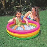"""Детский надувной бассейн """"Радуга"""" 86х25 см, Intex 58924"""