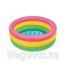 """Детский надувной бассейн """"Радуга"""" 86х25 см, Intex 58924, фото 2"""