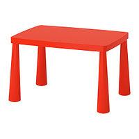 Стол детский МАММУТ д/дома/улицы красный ИКЕА, IKEA , фото 1