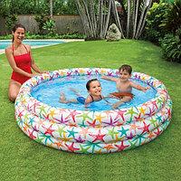 """Детский надувной бассейн """"Морские звезды"""" 168х38 см, Intex 56440"""