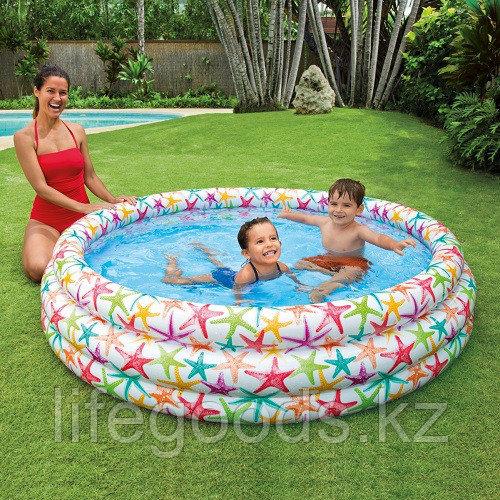 """Детский надувной бассейн """"Морские звезды"""" 168х38 см, Intex 56440 - фото 1"""