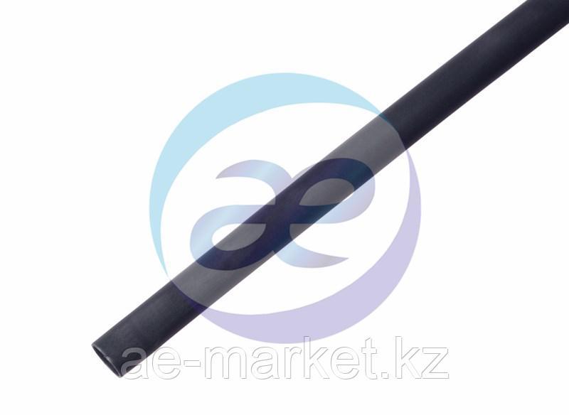 Клеевая 18. 0 / 6. 0мм (3:1) 1м термоусадка черная REXANT