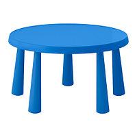 Стол детский МАММУТ д/дома/улицы синий ИКЕА, IKEA