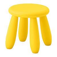 Табурет детский МАММУТ д/дома/улицы, желтый ИКЕА, IKEA