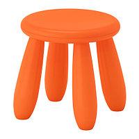 Табурет детский МАММУТ д/дома/улицы, оранжевый ИКЕА, IKEA