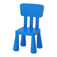 Стул детский МАММУТ д/дома/улицы синий ИКЕА, IKEA    , фото 1