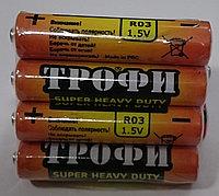 Батарейки мизинчиковые  ТРОФИ R03-AAA