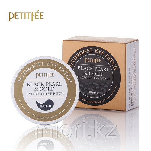 Гидрогелевые патчи с золотом и жемчугом Pettifee Black Pearl+Gold Hydrogel Eye Patch