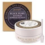 Гидрогелевые патчи с золотом и жемчугом Pettifee Black Pearl+Gold Hydrogel Eye Patch, фото 3
