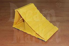 Противооткатный упор ST-007, пластиковый, желтый, для грузовиков