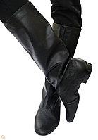 Народные сапоги для танцев мужские (черные, с раздельной подошвой)
