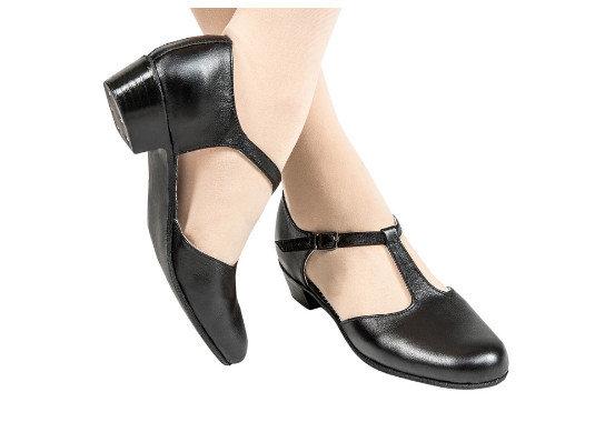 Туфли народные полуоткрытые (черные)