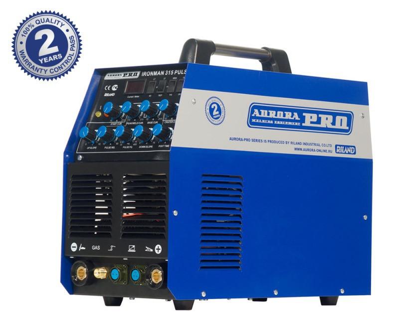 Индустриальный аппарат аргонодуговой сварки AuroraPRO IRONMAN 315 PULSE (TIG+MMA)