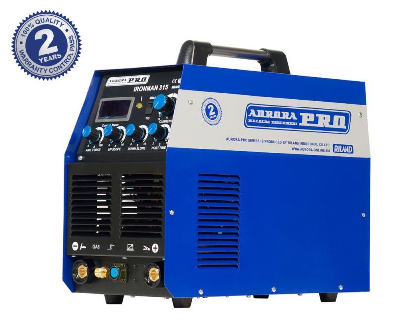 Индустриальный аппарат аргонодуговой сварки AuroraPRO IRONMAN 315 (TIG+MMA)