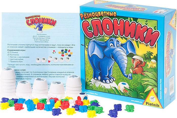 Настольная игра Разноцветные Слоники