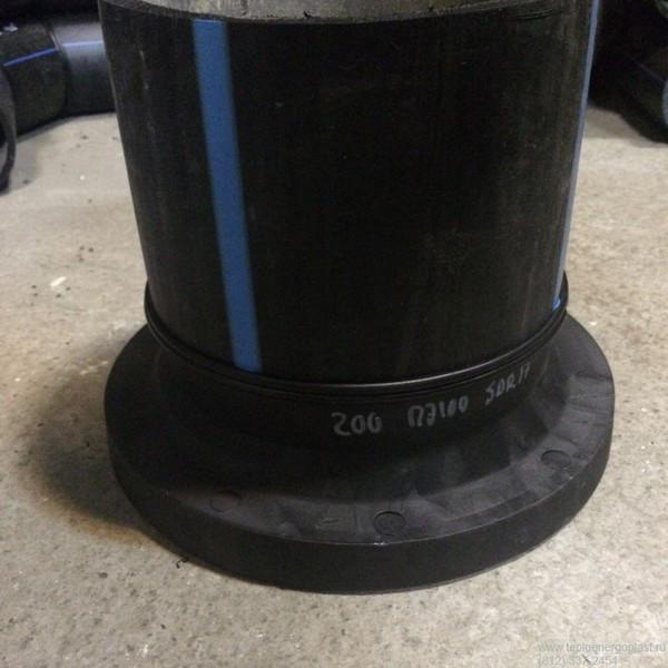 Втулка удлиненная сварная ПЭ100 SDR17 Ду200