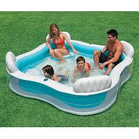 """Надувной бассейн """"Family Lounge"""" 229х229х66 см, Intex 56475"""