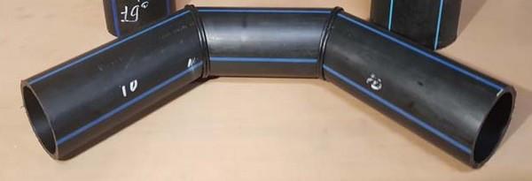 Отвод 90° сварной ПЭ100 SDR11 Ду63 (3-х секц.)