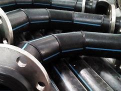 Отвод 90° сварной ПЭ100 SDR13,6 Ду225 (4-х секц.)