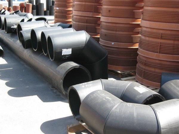 Отвод 90° сварной ПЭ100 SDR21 Ду400 (3-х секц.), фото 2