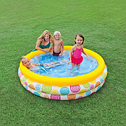 """Детский надувной бассейн """"Геометрия"""" 168х38 см, Intex 58449"""
