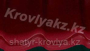 Металлочерепица Монтеррей (RaLL 3005 глянец - бордовый)