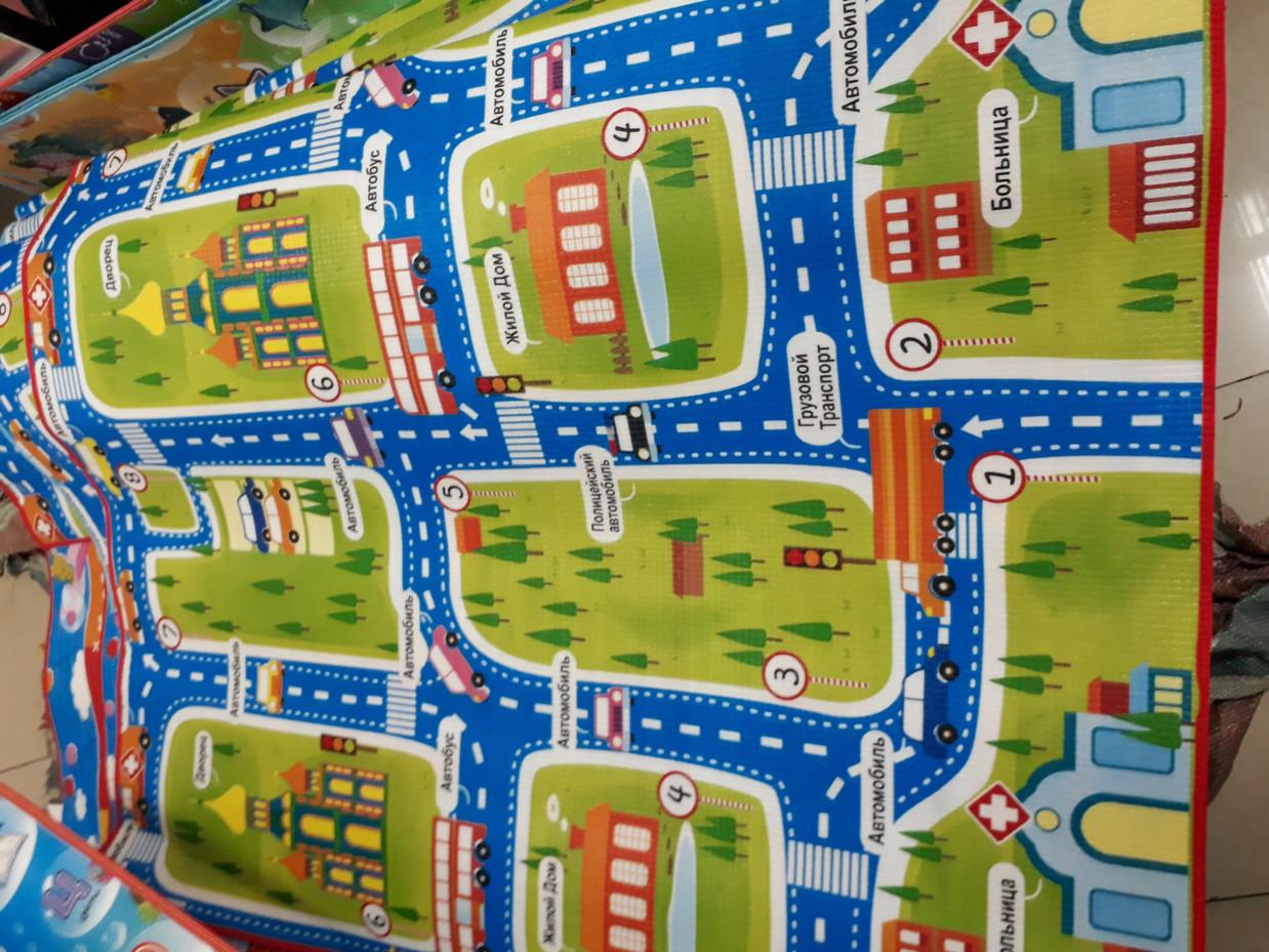 Термоковрик для детей в дорогу. Размер 1,8 м.*1,5 м.*0,5 см. Kaspi RED. Рассрочка.