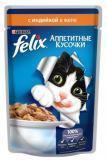 Felix, Индейка в желе Феликс кусочки Влажный корм для кошек, 85г